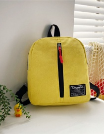 Fashion 16 Inch Three Yellow Canvas Bunny Elephant Stitching Contrast Backpack