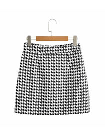Fashion Houndstooth Houndstooth A-line Skirt