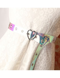 Fashion Colorful Pvc Transparent Colorful Eyes Love Heart Buckle Belt