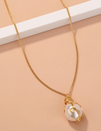 Fashion Golden Hand-made Twisted Shaped Baroque Pearl Necklace