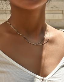 Fashion Color Mixing Fine Twist Color Multi-layer Necklace