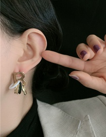 Fashion Golden Letter Multicolor Circle Alloy Plating Earrings