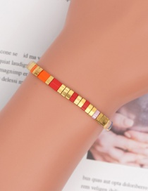 Fashion Color Mixing Rice Beads Contrasting Color Elastic Bracelet