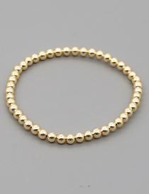 Fashion Jin Zhu Geometric Hand-woven Rice Beads With Diamonds And Rivet Bracelet