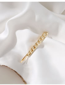 Fashion Golden Metal Chain Rhinestone Hair Clip