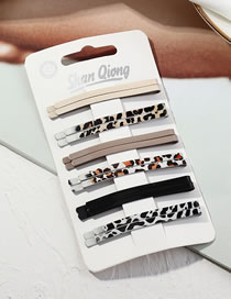 Fashion Suit Leopard Alloy One Word Hairpin