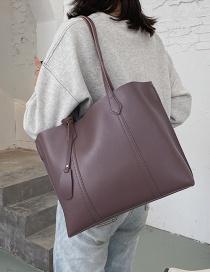 Fashion Bean Paste Large-capacity Stitching Solid Color Shoulder Bag