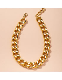 Fashion Golden Thick Chain Alloy Hollow Necklace