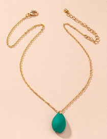 Fashion Green Shell Resin Alloy Necklace