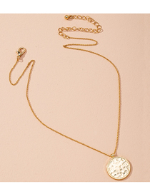 Fashion Golden Round Bump Alloy Necklace
