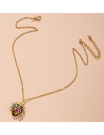 Fashion Green Diamond Bug Insect Diamond Drop Oil Alloy Necklace