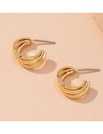 Fashion Golden Cross Geometry Alloy Earrings