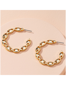 Fashion Golden Pig Nose Geometric Alloy Earrings