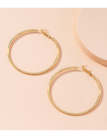 Fashion 6cm Round Geometric Alloy Hollow Earrings