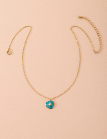 Fashion Golden Oil Dripping Geometric Alloy Necklace