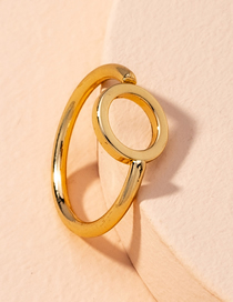 Fashion Golden Round Alloy Hollow Ring