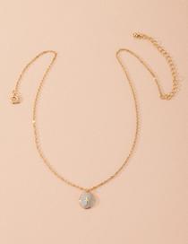Fashion Golden Lightning Drop Oil Geometric Alloy Necklace