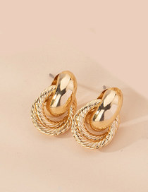 Fashion Small Weave Cross Braided Geometric Alloy Earrings