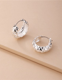 Fashion Silver Alloy Hollow C-shaped Earrings