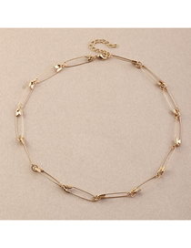 Fashion Gold Color Brooch Alloy Hollow Necklace