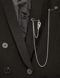 Fashion Silver Color Flame Chain Alloy Hollow Brooch