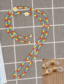 Fashion Color Mixing Rice Beads Woven Small Daisy Beaded Handmade Necklace Non-slip Glasses Chain