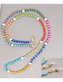 Fashion Color Mixing Hand-beaded Multifunctional Non-slip Glasses Chain