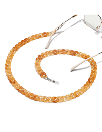 Fashion Two-tone Yellow Resin Acrylic Thick Chain Environmental Protection Glasses Chain