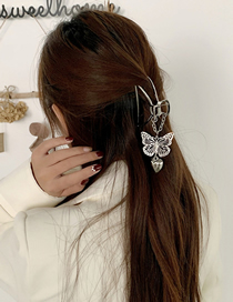 Fashion Silver Color Love Butterfly Pendant Clamp