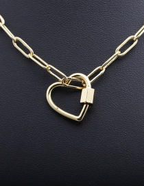 Fashion Can Open Love Lock Gold-plated Copper Heart Hollow Necklace
