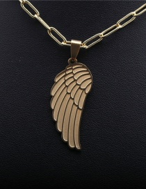 Fashion Angel Wings Titanium Steel Angel Wings Gold-plated Bronze Necklace