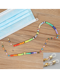 Fashion Color Mixing Anti-skid Glasses Chain With Dripping Eyes Smiley