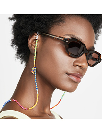 Fashion Mixing 1 Rice Beads Handmade Beaded Color Contrast Geometric Multifunctional Non-slip Glasses Chain