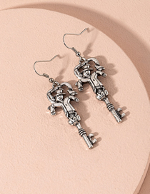 Fashion Silver Body Character Alloy Earrings