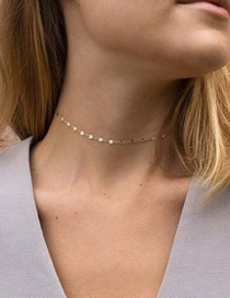 Fashion Golden Thin Chain Alloy Necklace