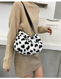 Fashion Cow Pattern Without Pendant Cow Plush Print Shoulder Bag