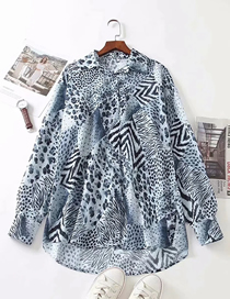 Fashion Animal Print Chiffon Leopard Print Loose Shirt