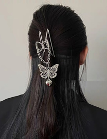 Fashion Silver Love Butterfly Pendant Hollow Clip