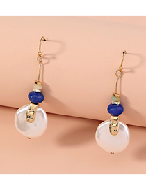 Fashion White Natural Stone Resin Pearl Geometric Alloy Earrings