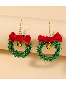 Fashion Bow Christmas Christmas Bells Bow Hollow Earrings