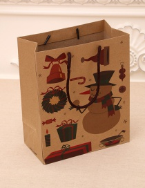 Fashion Medium [26*10*32cm] No. 3 Christmas Hand Kraft Paper Bag