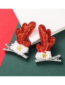 Fashion Two-piece Suit Christmas Moose Horn Sequin Hairpin