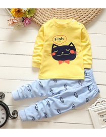 Fashion Kitten No. 75/120 Is Recommended For Height 110 Cotton Printed Childrens Underwear And Home Service Suit