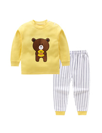 Fashion Huang Xiaoxiong 75/120 Is Recommended For Height 110 Cotton Printed Childrens Underwear And Home Service Suit