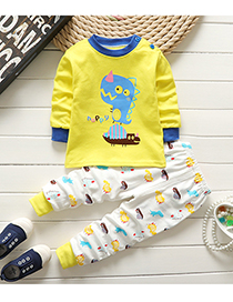 Fashion Blue-collar Dinosaur 75/120 Is Recommended For Height 110 Cotton Printed Childrens Underwear And Home Service Suit
