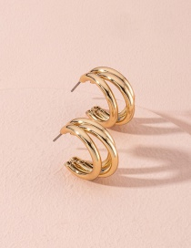Fashion Golden Trumpet Geometric Alloy Earrings