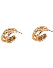 Fashion Golden Medium Geometric Alloy Earrings