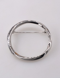 Fashion Silver Color Geometric Ring Alloy Brooch