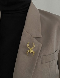 Fashion Gold Color Spider Alloy Brooch