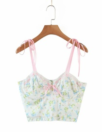 Fashion Printing Floral Print Lace Camisole